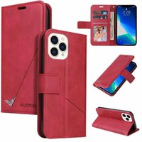 Business Vertical Leather Wallet Cases For Iphone 13 Pro MAX Mini Phone13 12 11 XS XR X 10 8 7 6 Men Fashion Plain Credit ID Slot Magnetic Rose Gold Holder Flip Cover Pouch