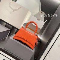 New women's bag shoulder messenger handbag crocodile pattern hourglass retro fashion small square
