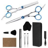 Saç Makas Keskin Bıçak Profesyonel Kesme Salonu Makas Kuaför Makasları Kuaförlük Siyah Razor 6.0 Inç ile Siyah
