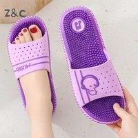 Foot Massage Slippers Women's Home Indoor Soft Bathroom Bath Anti-Slip Shoes Pedicure Sandals Men's Summer Cartoon Fashion 210903