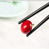 Chopsticks 10Pairs Fiberglass Alloy Reusable Wood Chop Sticks Set Household Kitchen Tableware Flatware Dinnerware Tools