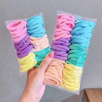 Hair Accessories 100 50PCS Solid Color Ties Scrunchies Women Girls Elastic Bands Seamless Link Rope Gift Headdress