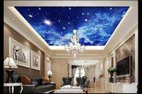 Wallpapers Custom 3d Po Wallpaper Ceiling Mural Star Sky Zenith Living Room Bedroom Home Decor