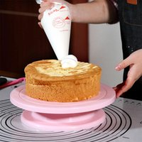 Baking & Pastry Tools 1 Set Silicone Cake Mold DIY Color Round Decorating Turntable Decor Rotary Table Supplies Stand