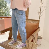 Jeans Summer Baby Girls Pants Kids Clothes Cotton Casual Children Trousers Teenager Denim Boys 2-8Y