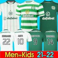 21 22 Celtic FC Maillots de foot EDOUARD 2021 2122 AJETI GRIFFITHS Maillot de football TURNBULL CHRISTIE ELYOUNOUSSI FORREST Maillot pour homme Kit enfant