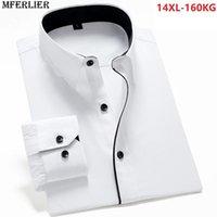 Camicia da uomo di grandi dimensioni manica lunga a maniche lunghe 5xl 7xl 8xl 9xl 10xl Business home uomo vestito camicie comode 12xl 14xl casual da uomo bianco