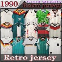1990 1992 1992 1994 1988 ألمانيا الرجعية لكرة القدم جيرسي Littbarski Ballack Klinsmann 1998 2014 Matthias Classic Vintage Kalkbrenner 1996 2004 2006 قمصان كرة القدم