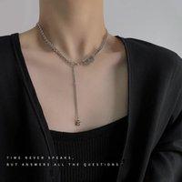 Chains Letter B Necklaces Woman Tassel Jewelry Women Necklace Chain Pendant Ladies Silver Color Vintage European Stainless Naszyjnik