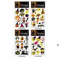 할로윈 형광 색상 임시 문신 스티커 환경 친화적 인 아이들 푸 마킨 동물 만화 문신 스티커 파티 장식 HWD9881
