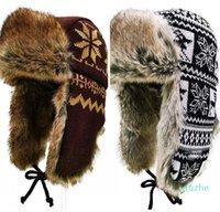 Inverno Térmico Térmico Earmuffs Knit Chapéu de Algodão Homens Mulheres Ao Ar Livre Caminhada Pesca Esqui Ciclismo Quente EarFlanças Lei Feng Bombardeiro Boné 326 x2
