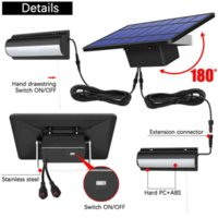 2021 Upgraded Solar Lamps Outdoor Lighting IP65 Waterproof Auto On Off Lead LED Lights for Barn Room Garden Balcony Chicken With Pull Switch 3m Line Pendant Lamp