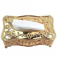 Cajas de tejido Napkins Gold Acrylic El Restaurante Titular de la servilleta Caja doméstica 385 R2 AZ6C DRQI
