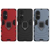 Hard PC + Flexibel kiselstötfångare Telefonfodral för Huawei Honor V40 X10 9X Lite 30 Pro 30s Y8s Njut av Z 20 Plus