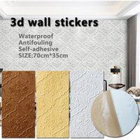 Wallpapers 30Pcs 3D Wall Panel Sound Proof Panels Waterproof Self-Adhesive Wallpaper On The For Living Room Home Decoration