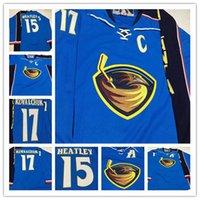 사용자 정의 2009-10 빈티지 17 일 릴 Kovalchuk 애틀랜타 Thrashers 하키 유니폼 남성 15 Dany Heatley 스티치 Ice Jersey Size S-4XXXL
