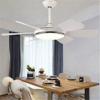 Nordic Macaron Ceiling Fan Pendant Lamps Light Modern Minimalist Creative Personality Clock Dining Room Fixture Lighting