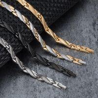 Link, Kette Vinterly Energy Magnusitc Armband Männliche Hand Edelstahl Magnetische Schwarz Germanium Armbänder für Frauen
