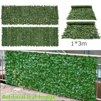 Decorative Flowers & Wreaths 1x3M Plant Wall Artificial Lawn Boxwood Hedge Garden Backyard Home Decor Simulation Grass Turf Rug Outdoor Flow