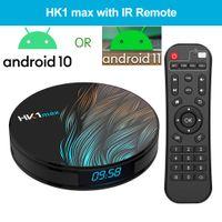 HK1 Max Android 10 ou 11 Smart TV Box RK3318 BT4.0 Quad Core 2.4G5G WIFI WIFI WIFI 4K Lecteur multimédia 4K