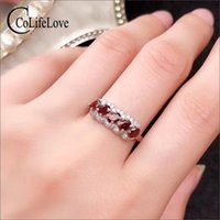 Cluster Rings CoLife Jewelry 925 Silver Garnet Ring 5 Pieces Natural VVS Grade For Girl Birthday Gift