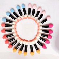 1 stück professionelle make-up pinsel blusher erröten nylon bilden weiches foundation pulverseite zwei köpfe kosmetik tools