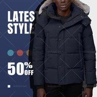 Nouveau designer Hommes d'hiver de l'hiver de la fourrure de fourrure Ventille veste Long Parka Vent Vent Puffer manteaux chauds