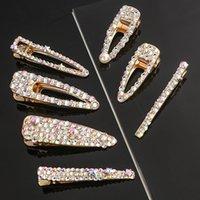 Gold Bling Hair Clips Barnettes Simple Crystal Bobby Pins Clip для женщин-девочек Мода Ювелирные изделия будут и песчаные