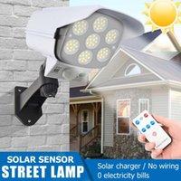 Solar Lamps Led Light Outdoor Waterproof Motion Sensor Street Spotlight Security Simulation Fake Dummy Camera Wall Lamp Garden
