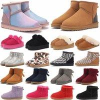 Дизайнерские классические WGG Boots Uggly Ugglis Shoes Bailey Uggs высокая кнопка триплет Австралия женские женские ботинки зима снег австралийский мех пушистый лук для детей