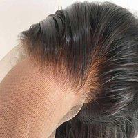 Polegada óssea reta 13x6 HD Rendas dianteira peruca de cabelo humano transparente perucas frontais transparentes1