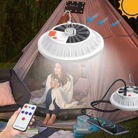 Portable Lanterns Camping Lantern Light Solar Lamp Tent LED Emergency Rechargeable Power Bank For Lighting
