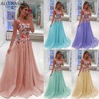 Allukasa длинное платье женские летние элегантные вечерние вечеринки без рукавов шифон сексуальные цветочные макси пагуб плюс размер женщины одежда S-5XL повседневные платья