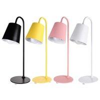 Table Lamps Fashion Nordic Metal Lamp Bedside Desk Reading Kids Bedroom Study Night Light