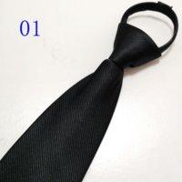 MBW Lazy Koreanische Herren-Hals-Krawatten formale Business-Hochzeit 8cm professionell leicht zu ziehen Krawattenfreier Reißverschluss Zipper Reißverschluss