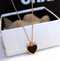 18K Rose Gold Heart Pendant Real 925 Sterling Silver Charm Party Wedding Pendants Necklace For Women Bridal Fine Jewelry Gift
