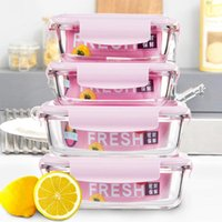 Multi-piece Glass Fresh-keeping Box High Temperature Resistant Lunch Microwave Special Bowl With Dinnerware Sets