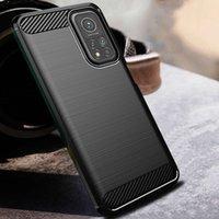 Telefon Kılıfları Karbon Fiber Pro Silikonlu Telefoon Kapak Yumuşak Voor Xiaomi Mi 10 T Lite Kılıf Vollidige Bescherming Fundas
