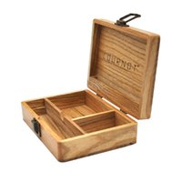 Wood Smoking Stash Jar Tobacco Cigarette Container 173*120*50 MM Wooden Rolling Case Dry Herb Tobacco Box Smoking Accessories Wholesale