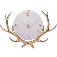 Настенные часы олень гостиная большие часы северное золото роскошный кварц современный минималистский творческий арт немой домашний часы AB50ZB