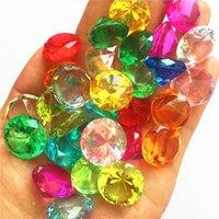 19MM Faux Diamond Jewels Fiesta Tesoro Tesoro Pirate Acrílico Cristal Gemas Rellenar Toy Props Confetti Navidad Boda Decoración Bebé Niños Regalo 50pcs
