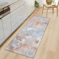 Carpets Marble Pattern Rectangular Non-slip Entry Carpet Bathroom Kitchen Living Room Bedroom Bedside Decorative