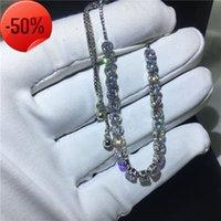 Vecalon Handmade White Gold Filled extend bracelets Diamonds cz Silver Colors Wedding bracelet for women Fashion Jewerly