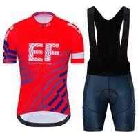 Takım EF Eğitim İlk Erkekler Bisiklet Jersey Takım Dağ Bisikleti Üniforma Ropa Ciclismo Kısa Kollu Yol Bisiklet Kıyafetler 32296