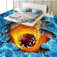 Shuhiko Personalizzato grande murale PVC Volcanico Lava Volcanico Bagno Soggiorno 3D Sfondi Adesivi Adesivi Adesivi ad usura addensati 3D Sfondi