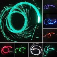 Novelty Lighting Led Fiber Optic Whip Glow Stick Luminous Hand Strap Light Up Super Bright Toy Dance Show Performance Multicolor
