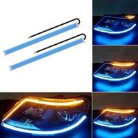 Acil Durum Işıkları 2x Ultra Dokuma Araba RGB Gündüz Çalışan Işık Akan Dönüş Sinyali ile 30/5/5/60 cm Premium LED DRL Esnek Yumuşak Tüp Kılavuzu STR