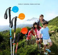 Ultralight Trekking Trail Pole mit Schweiß absorbierend Eva Griffe Wanderrohre Spazierstöcke für Mannfrau Kinder Bergsteigen