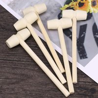 Party Masks 14*4.3cm Mini Wooden Mallet Leather Craft Carving Stamping Hammer DIY Handcrafted Gavel Hand Tool Baby Toys