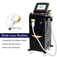 Professionelle Diode Laser Haarentfernungsmaschine 3 Wellenlänge 808nm 755nm 1064nm TRIO LAZER ALEXANDRITE ENTFERNENHAIRE SOPRANS